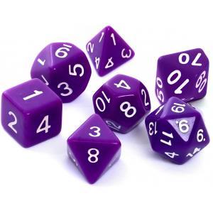 Komplet kości RPG - matowe fioletowe