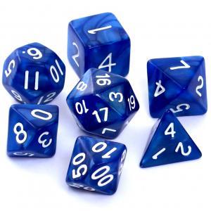 Komplet Kości RPG - Perłowe Ciemnoniebieskie