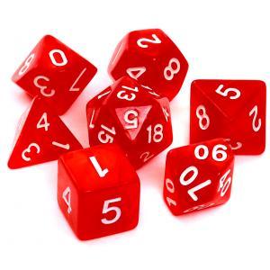 Komplet Kości RPG - Perłowe Czerwone