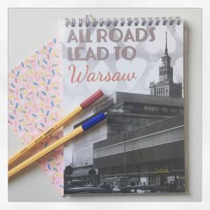 Notes A5 spirala Warszawa All roads lead LovePolandDesign