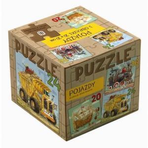 Puzzle 3 w 1 Pojazdy