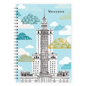 Notes A5 spirala Warszawa Pałac kultury /chmury/ LovePolandDesign