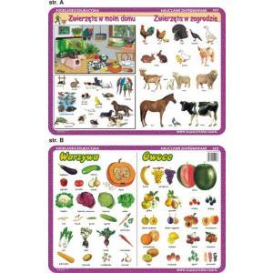 Podkładka edukacyjna 003 Nauczanie Zintegrowane. Warzywa, Owoce, Zwierząta w Moim Domu/W Zagrodzie