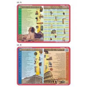 Podkładka edukacyjna 017 Historia. Starożytny Egipt, Grecja, Rzym, Bogowie Grecji i Rzymu