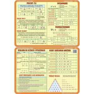 Podkładka edukacyjna 031 Matematyka. Procent, Potęgowanie, Pierwiastkowanie