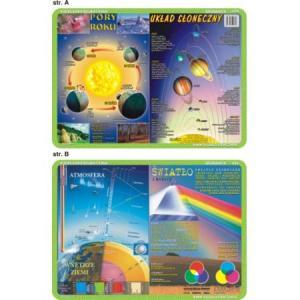 Podkładka edukacyjna 034 Geografia. Układ Słoneczny, Pory Roku, Atmosfera, Światło i Kolory