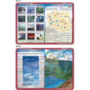 Podkładka edukacyjna 035 Geografia. Mapa Pogody, Zjawiska Atmosferyczne, Chmury, Obieg Wody