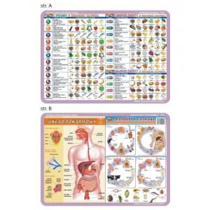 Podkładka edukacyjna 056 Anatomia Człowieka. Pasożyty Człowieka, Układ Pokarmowy, Witaminy