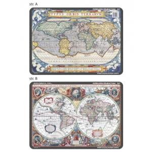 Podkładka edukacyjna 065 Historia. Mapa śwata XVI i XVII w.