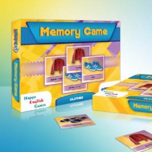 Memory Game. Clothes. Edukacyjna gra pamięciowa /pudełko/