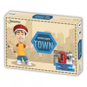 Memory Game.Town. Edukacyjna gra pamięciowa /pudełko/