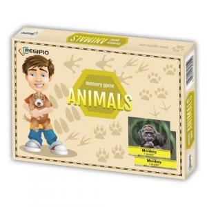 Memory Game. Animals. Edukacyjna gra pamięciowa /pudełko/