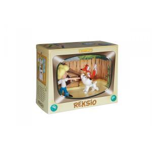Figurka Reksio i chłopiec Zestaw /pudełko kartonowe/