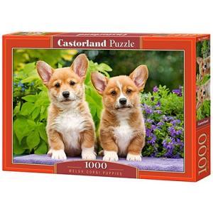 Puzzle 1000. Welsh Corgi Puppies
