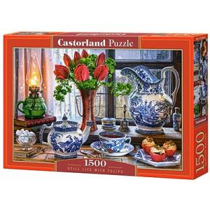 Puzzle 1500. Still Life with Tulips