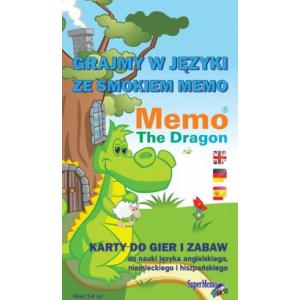 Memo. The Dragon. Karty do gier i zabaw. J. Ang., niem., hiszp