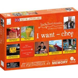 Edukacyjne memory językowe I want chcę Autorska kolekcja Beaty Pawlikowskiej