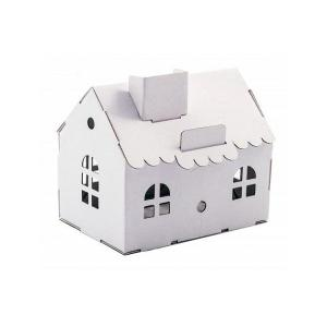 Zabawka z tektury Domek Skarbonka (biały). Leolandia