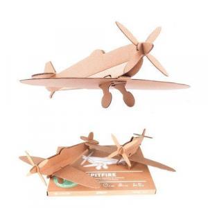 Zabawka z tektury Spitfire (naturalny). Leolandia