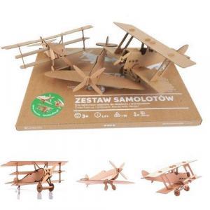 Zabawka z tektury Zestaw Samolotów. Leolandia