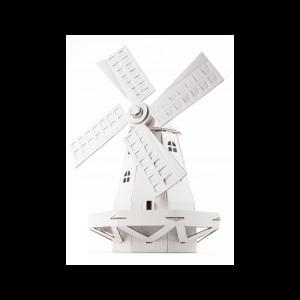Zabawka z tektury Wiatrak (biały). Leolandia