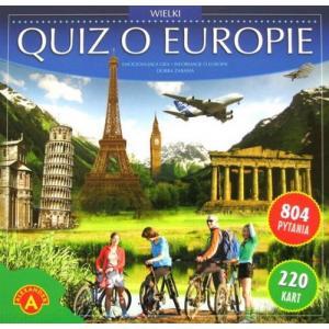 Wielki quiz o Europie. Gra edukacyjna. Pudełko