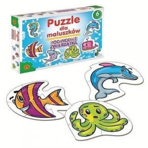 Podwodne zwierzątka. Puzzle dla maluszków. 6 wzorów. Pudełko
