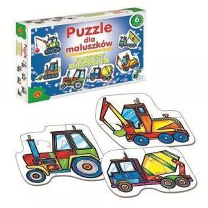 Maszyny budowlane. Puzzle dla maluszków. 6 wzorów. Pudełko