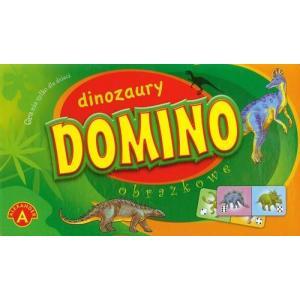 Domino obrazkowe. Dinozaury