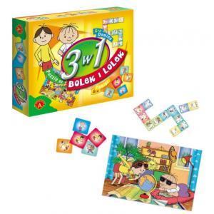 3w1 Bolek i Lolek Puzzle i 2 gry /Alexander