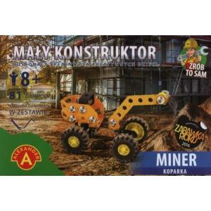 Mały konstruktor. Miner koparka. 81 elementów