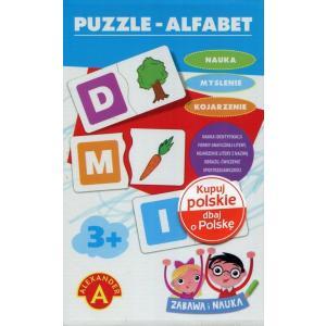 Zabawa i nauka. Puzzle Alfabet