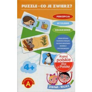 Zabawa i nauka. Puzzle - Co je zwierz?