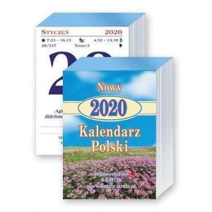 KL05 Kalendarz zdzierak 2020. Kalendarz Polski