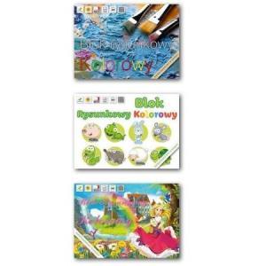 Blok rysunkowy A4 kolorowy Lucrum