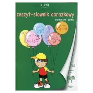 Zeszyt A5 32k kratka. Słownik obrazkowy. Język niemiecki. Gatis