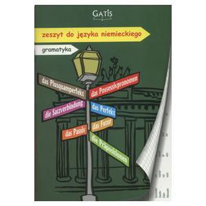 Zeszyt Język Niemiecki w Kratkę ( z Zasadami Gramatyki na Marginesach)