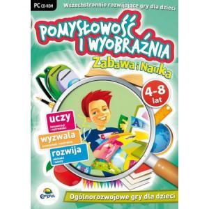 Pomysłowość i Wyobraźnia. Zabawa i nauka. 4-8 Lat. Zestaw gier edukacyjnych na płycie CD-ROM