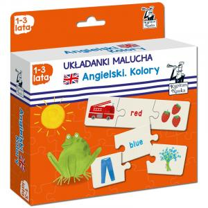 EDGARD Kapitan Nauka Układanki malucha. Angielski. Kolory(1-3 l.)