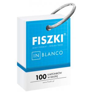 Fiszki In Blanco. 100 kartoników w kratkę na metalowym kółku