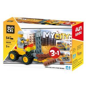 Klocki Blocki. MyCity 3w1. 54 Elementy