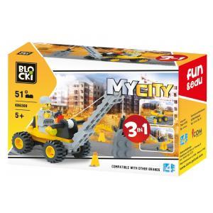 Klocki Blocki. MyCity 3w1. 51 Elementów