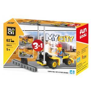 Klocki Blocki. MyCity 3w1. 62 Elementy