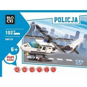 Klocki Blocki Policja Helikopter 102 elementy