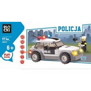 Klocki Blocki Policja Radiowóz 69 Elementów
