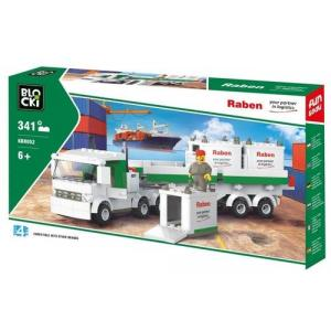Klocki Blocki RABEN  Ciężarówka Kontenerowa 343 El.