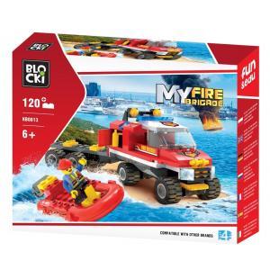 Klocki Blocki My Fire Brigade Straż Wodna 120 el.
