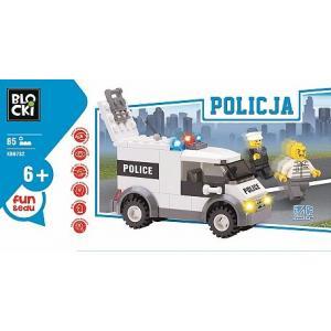 Klocki Blocki Policja Furgonetka 85 Elementów