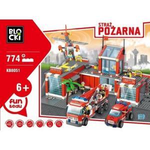 Klocki Blocki Straż Pożarna Remiza duża 774 elementy