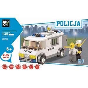 Klocki Blocki Policja Radiowóz 135 Elementów